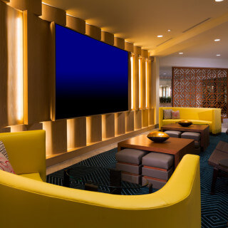 Sandcastle's Lounge Entertainment Wall